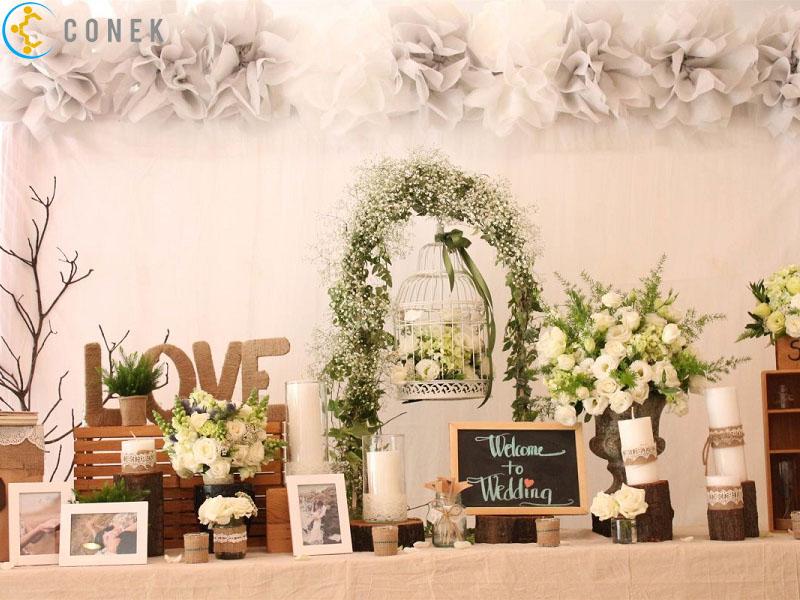 Dịch vụ tổ chức sự kiện đám cưới lãng mạn và sang trọng | Conek